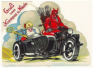 Krampus-on-motorcycle courtesy of Amoeblog