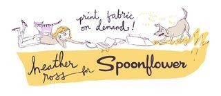 Heather Ross blog announcement about Spoonflower fabrics