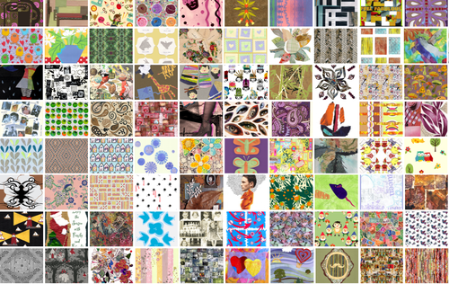 Vote for paper collage fabrics