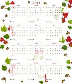 2011 tea towel calendar