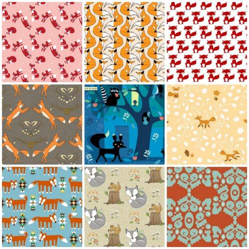 Fox fabrics collage 2