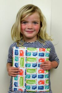 Cute Blonde Girl with Ipad cover
