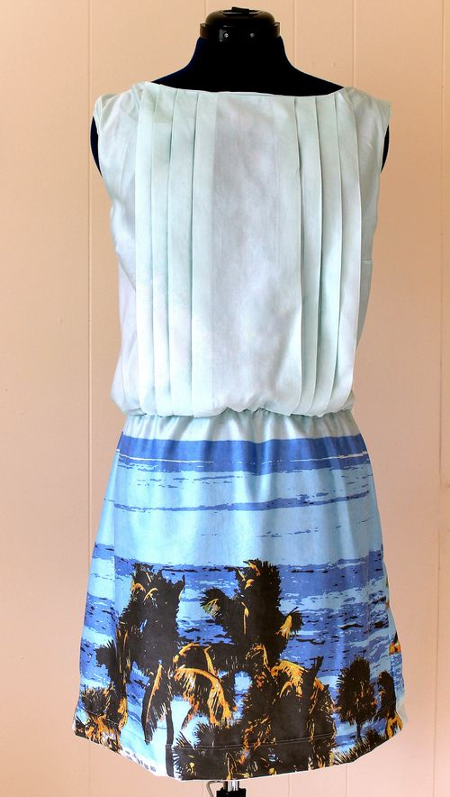 Photo print dress created by Emma Jeffery using one of her own vacation photos and printed using Spoonflower