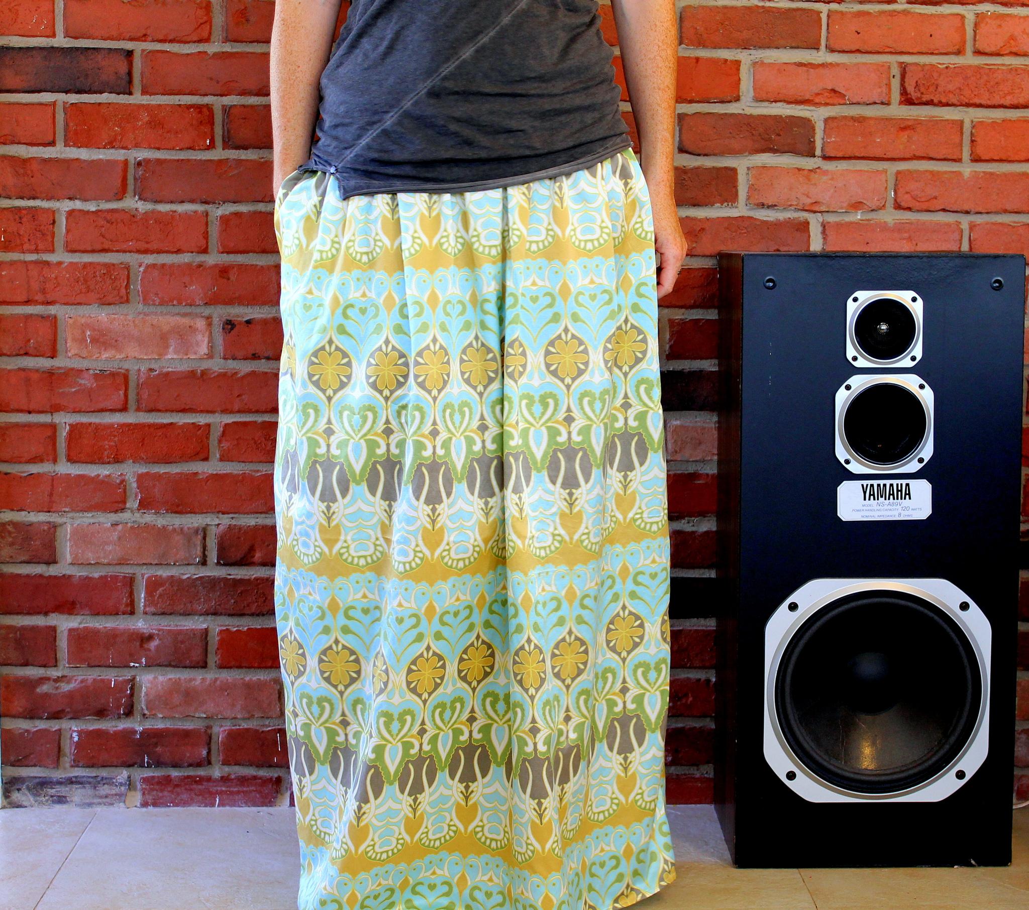 Make an easy summer maxi skirt   Spoonflower Blog