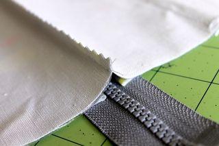 Seam over zipper