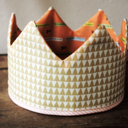 make your own easy fabric crown