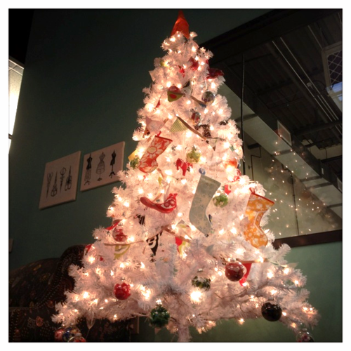 Spoonflower Christmas tree