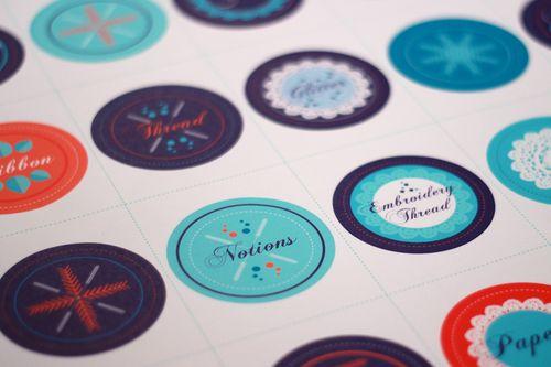 Labels printed