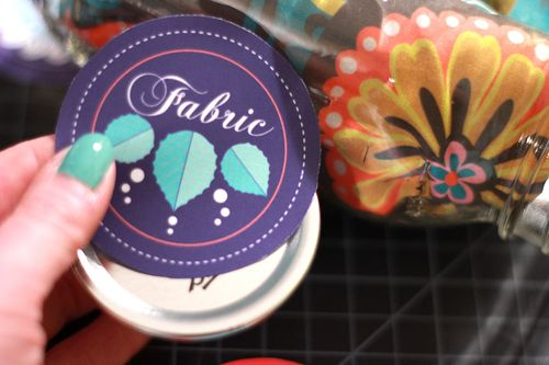 Adhering fabric label