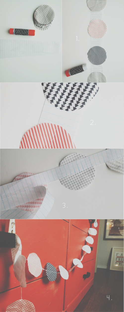DIY circle fabric garland