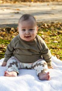 SF- Knit Baby Leggings Tutorial - Finished Leggings