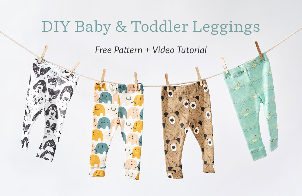 Knit Baby and Toddler Leggings - video tutorial + free pattern