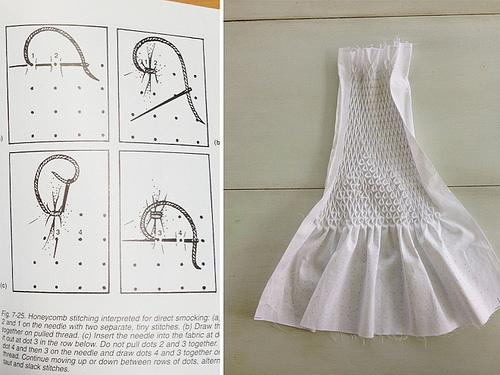Honeycomb_stitching
