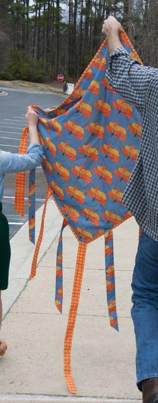 Kite quilt, back