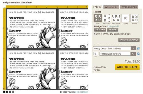 Spoonflower design