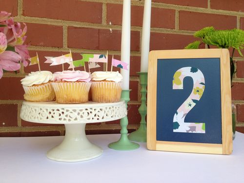 Table Number & Cupcake Toppers
