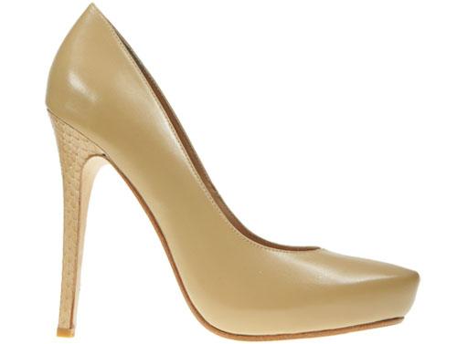 Dark nude with snakskin heel profile