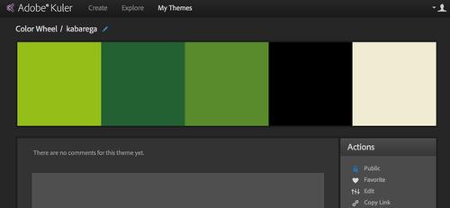 Kuler web app color theme