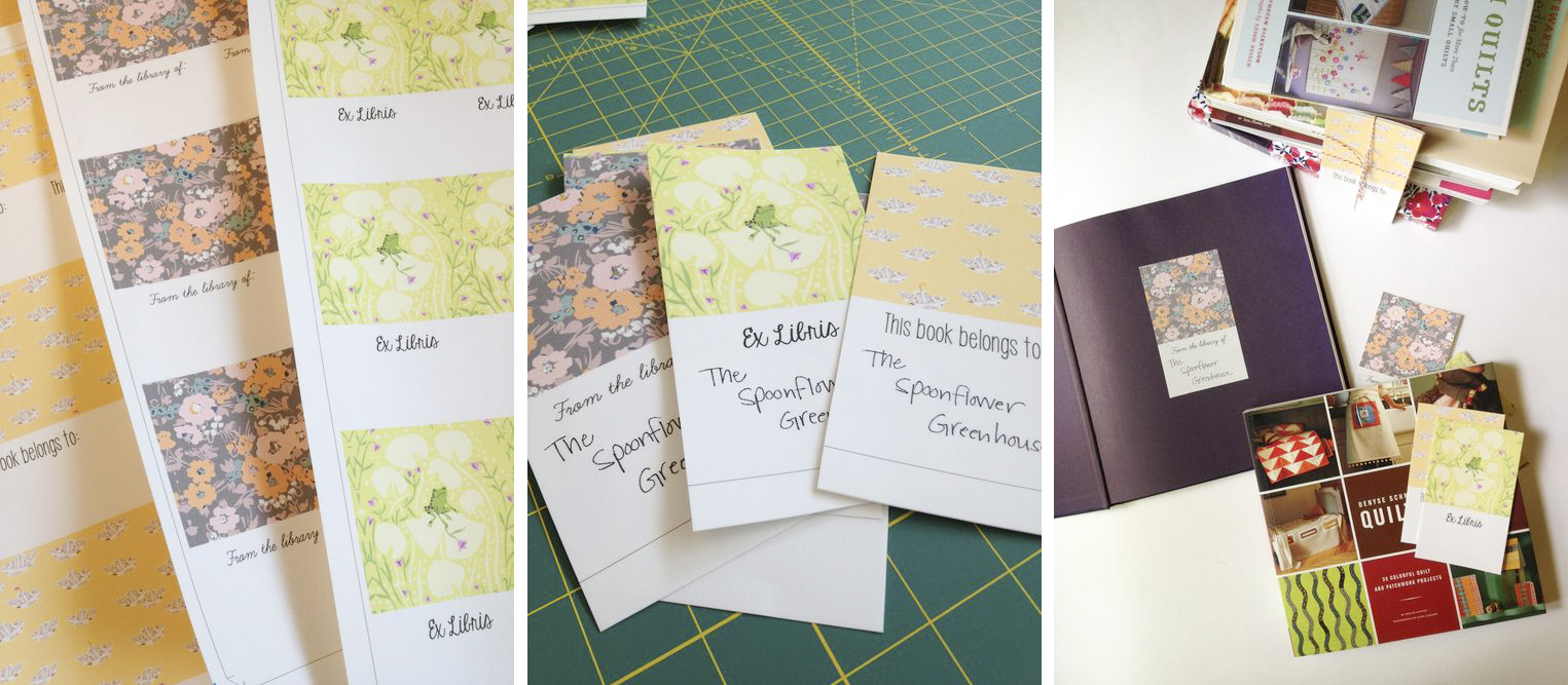 DIY Bookplates with Spoonflower