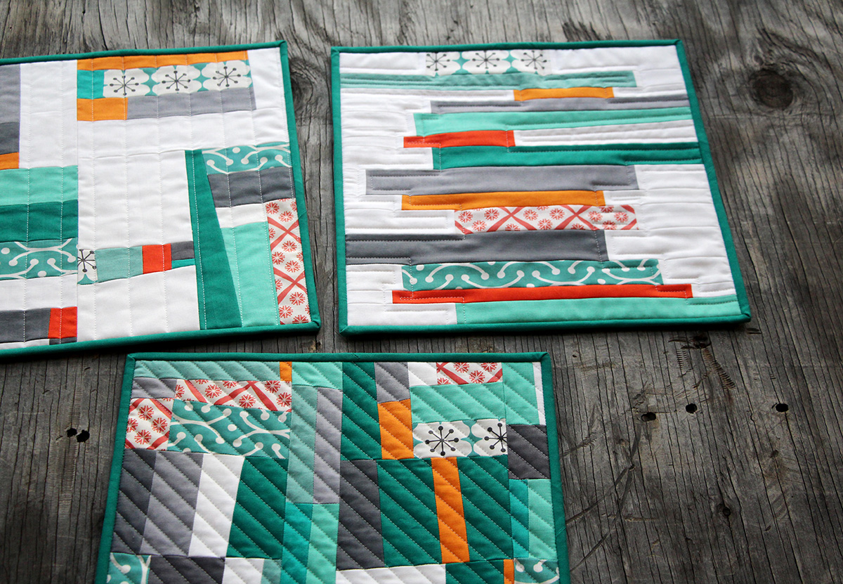 Modern Classroom Blocks ~ Free piecing quilt block tutorial spoonflower