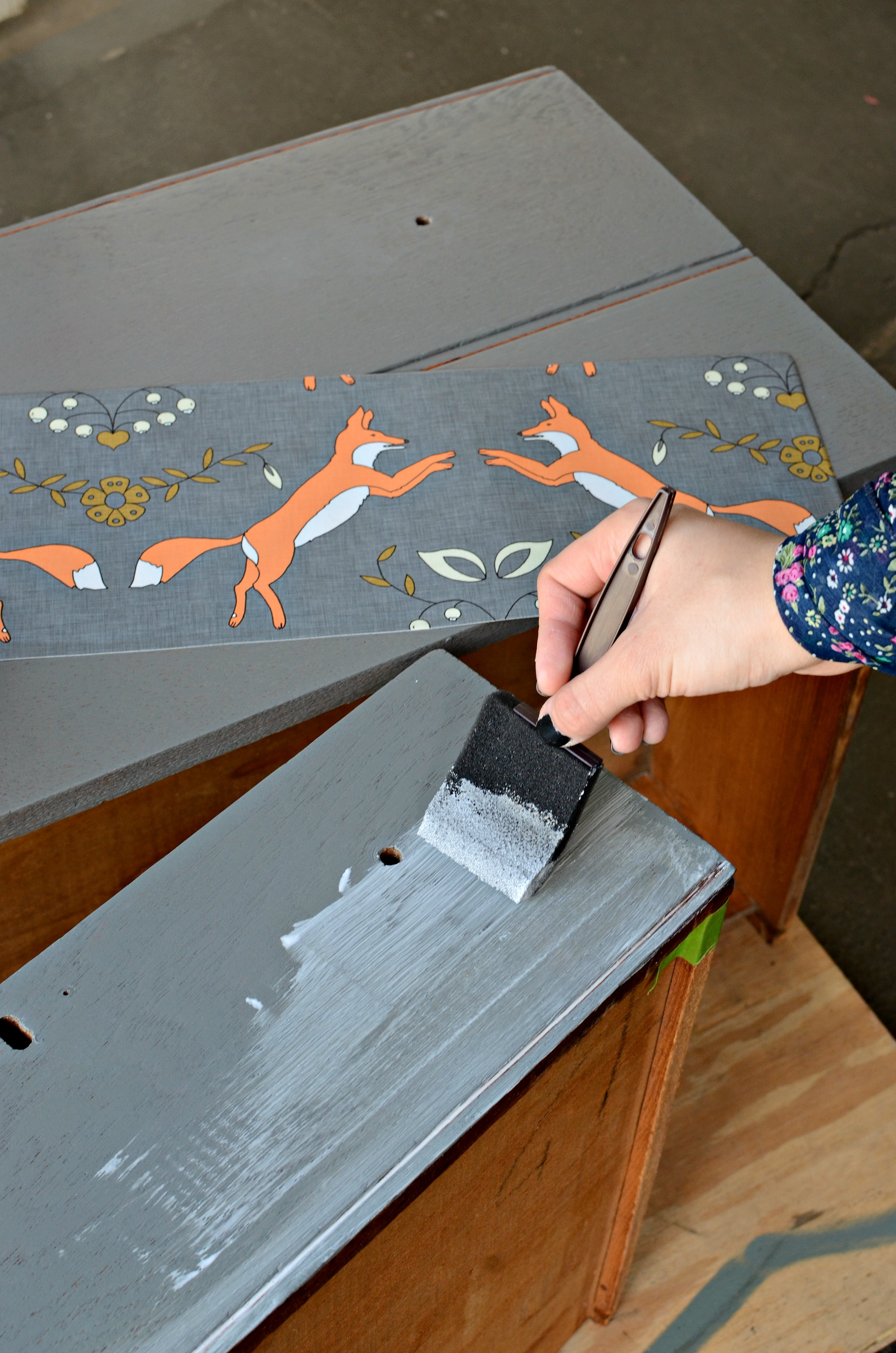Mod Podge Kitchen Table Dresser Upcycle Diy Home Decor Spoonflower Blog
