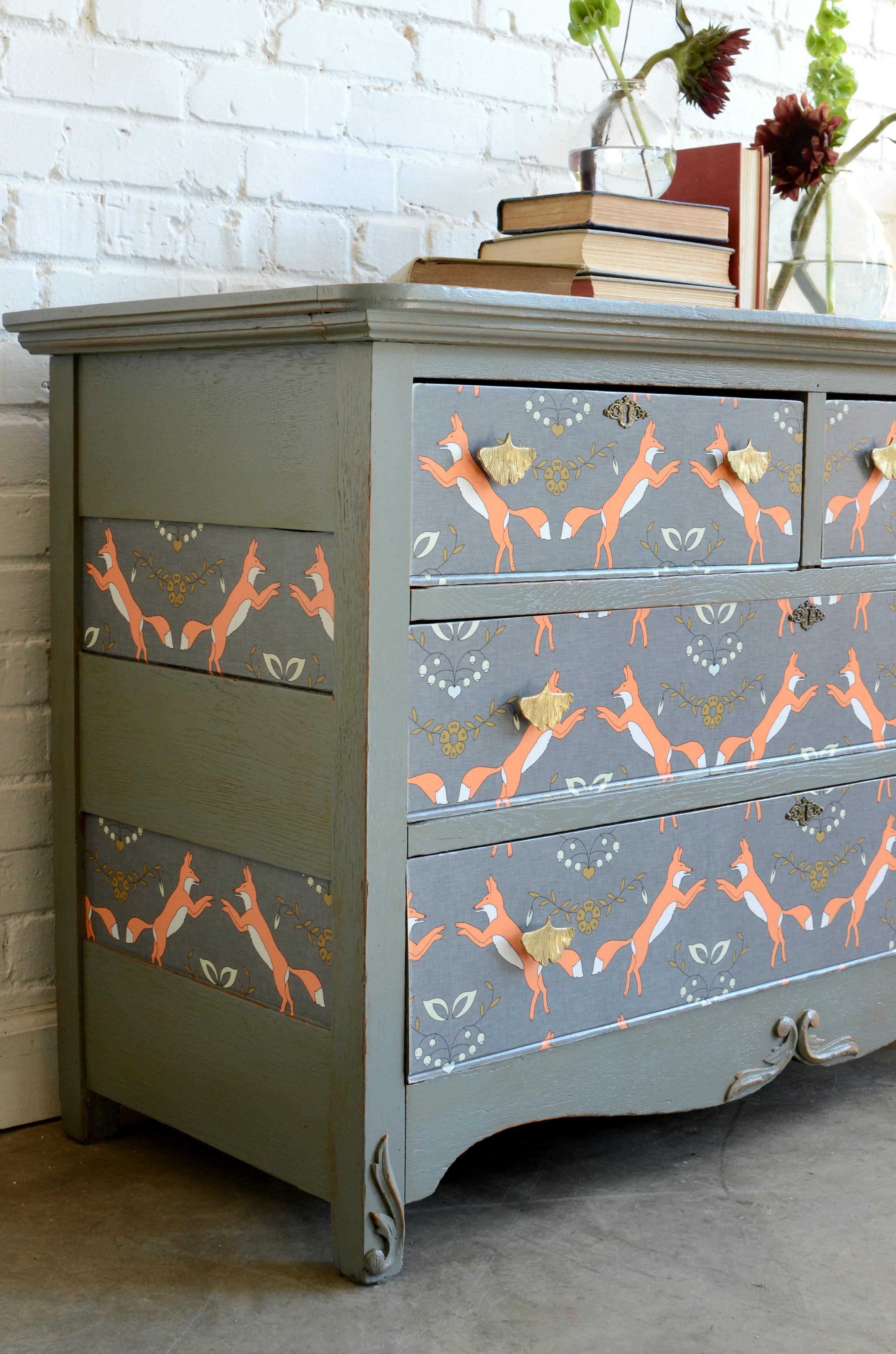Dresser Upcycle Diy Home Decor Spoonflower Blog