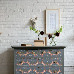 DIY Dresser Refresh using Woven Wallpaper