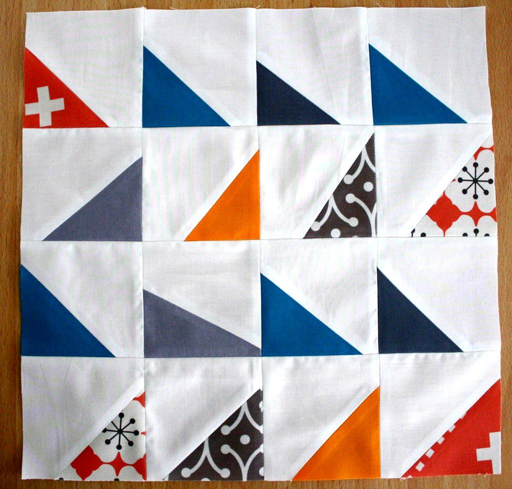 Modern Half Square Triangle Quilt Block Tutorial