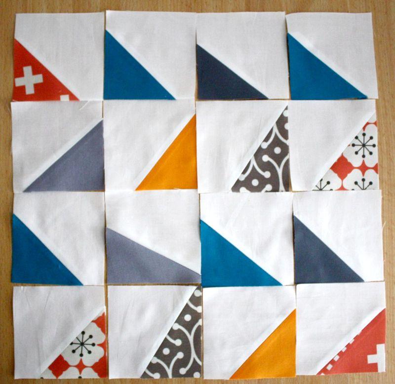 Half-triangle quilt block