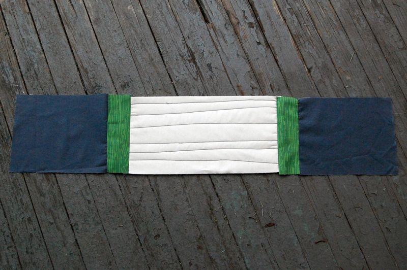 4 sewn into strip