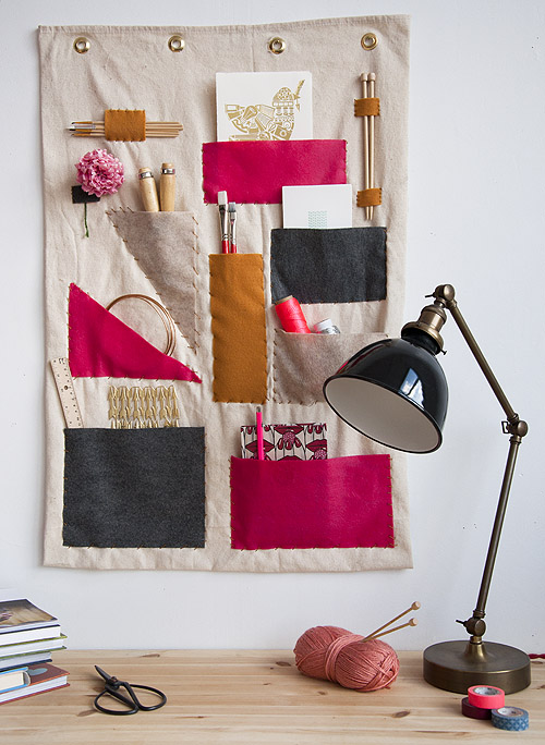 Fabric wall organizer