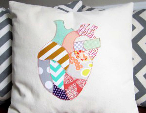 Anatomicalheartpillow
