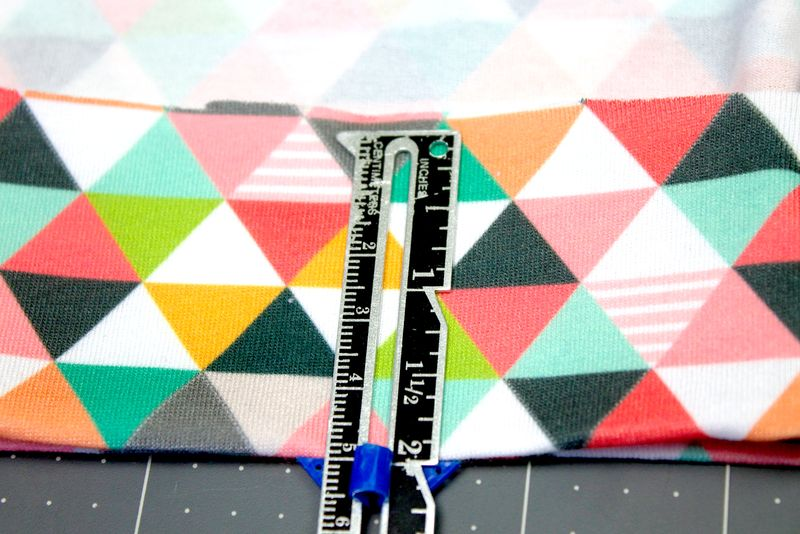 Turn 2 inches up to hem | Spoonflower Blog