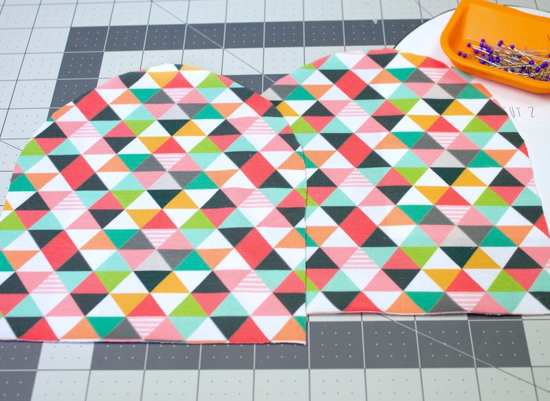2 pattern pieces for our DIY baby hat | Spoonflower Blog