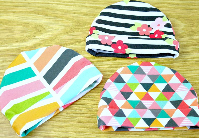 Adorable baby hats in every pattern imaginable! | Spoonflower Blog