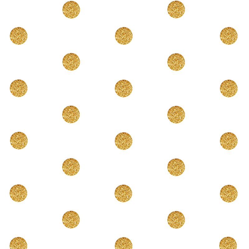 Polka Dot in Gold Glitter by Sparrow Song