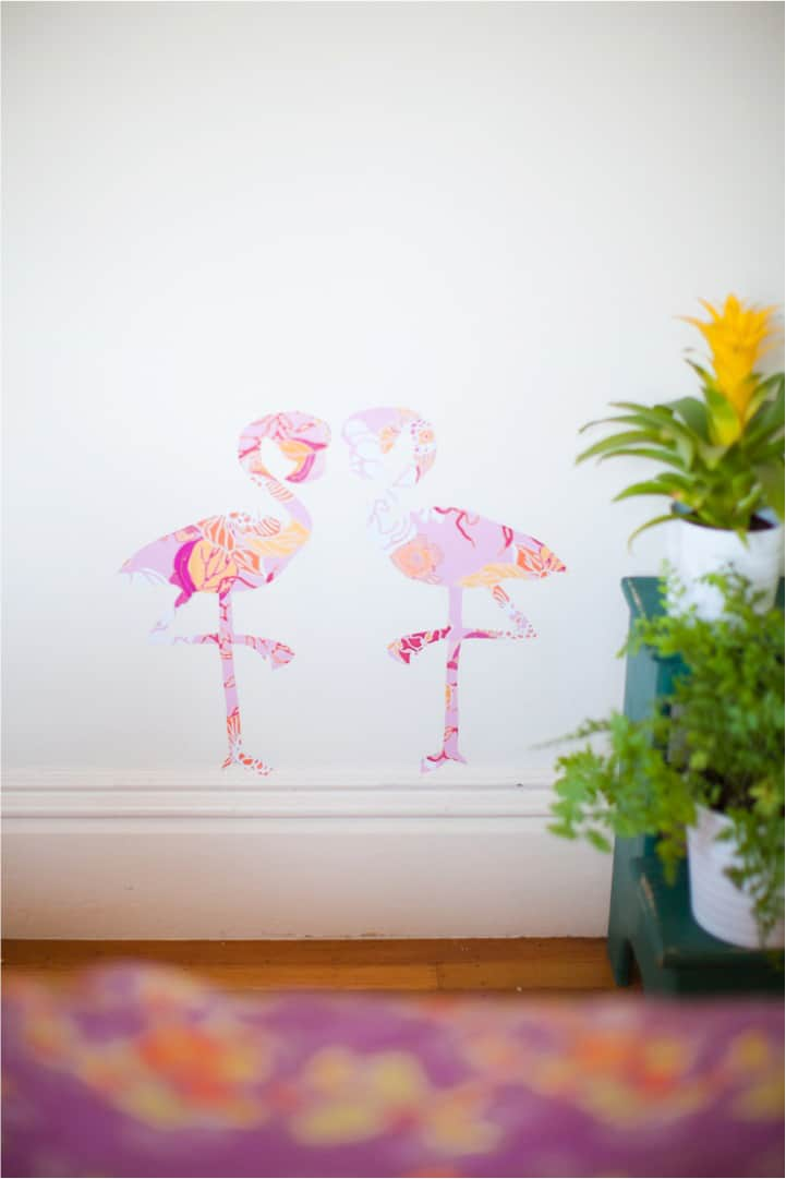 DIY-flamingo-wall-stickers