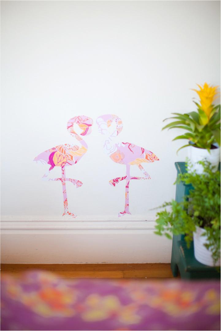 DIY-flamingo-wall-stickers