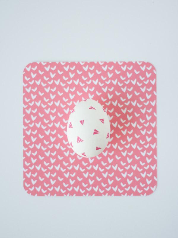 Geometric washi eggs