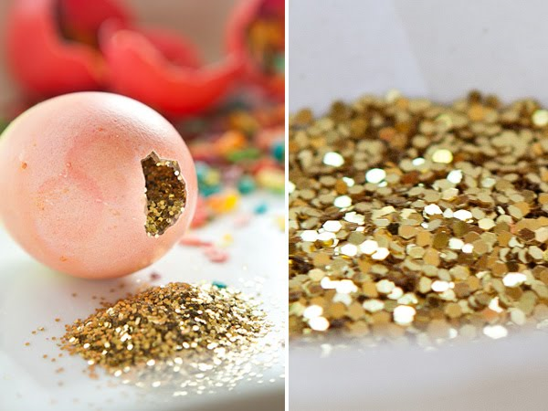 Glitter filled Easter eggs