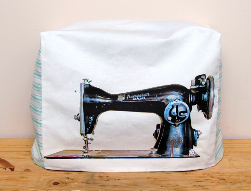 Turn grandma s vintage sewing machine into a custom cover for Best home decor sewing machine
