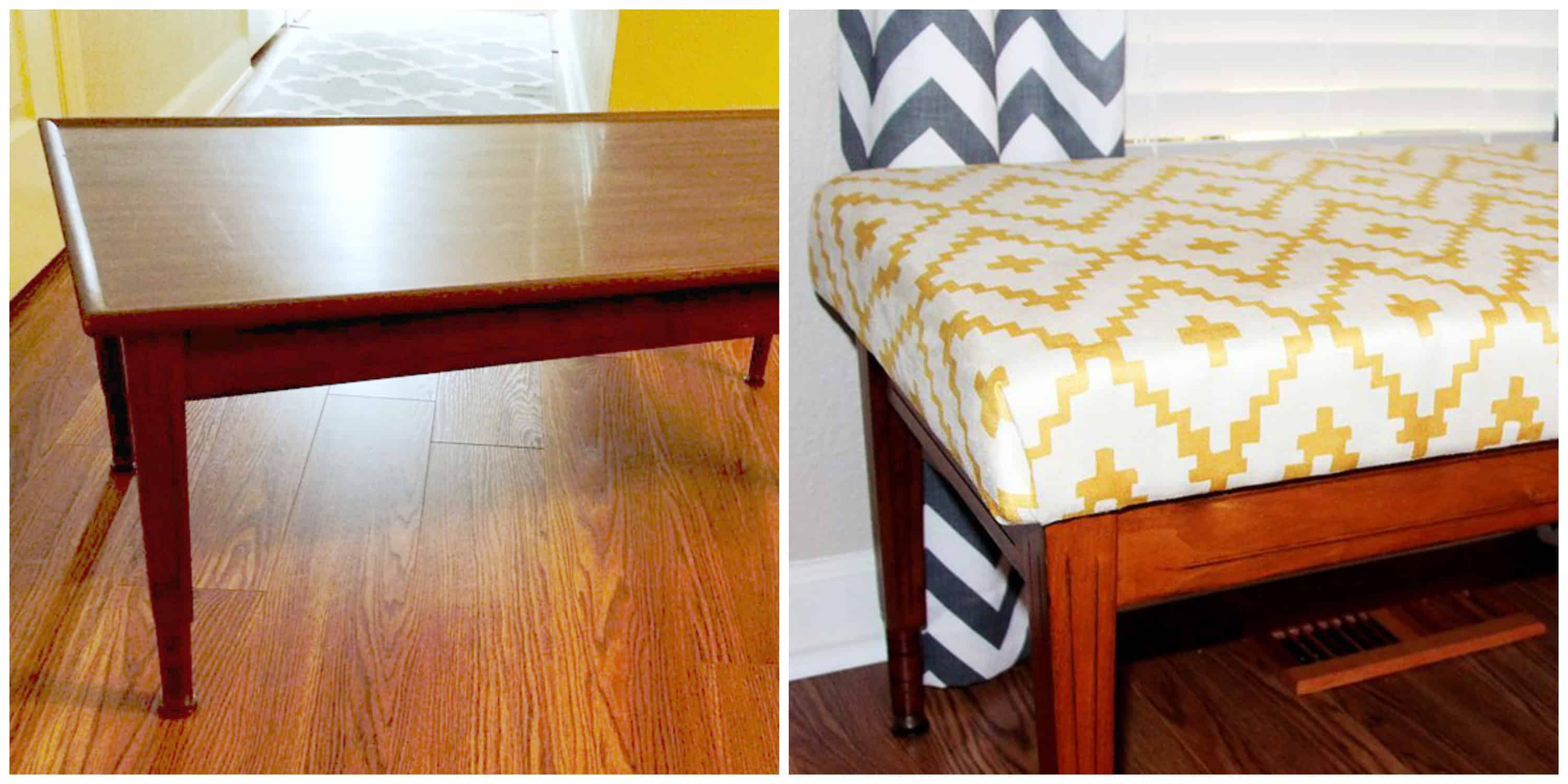 Coffee Table Into A Bench Diy Turn A Coffee Table Into An Upholstered Bench Spoonflower Blog