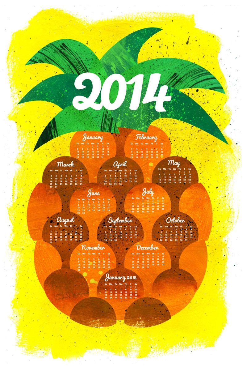 Pineapple-tea-towel-calendar-linen-01
