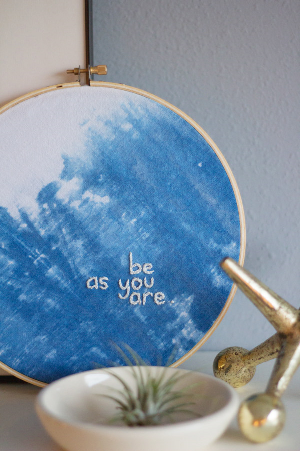 DIY indigo dyed embroidery | Lovely Indeed