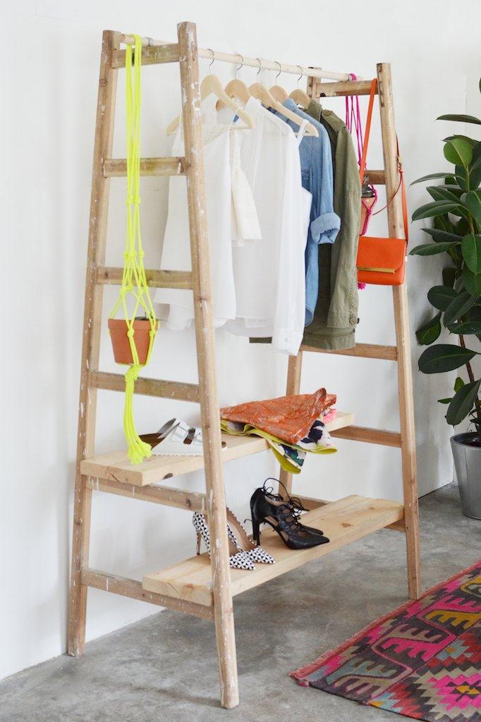 DIY Ladder Wardrobe | A Pair & A Spare