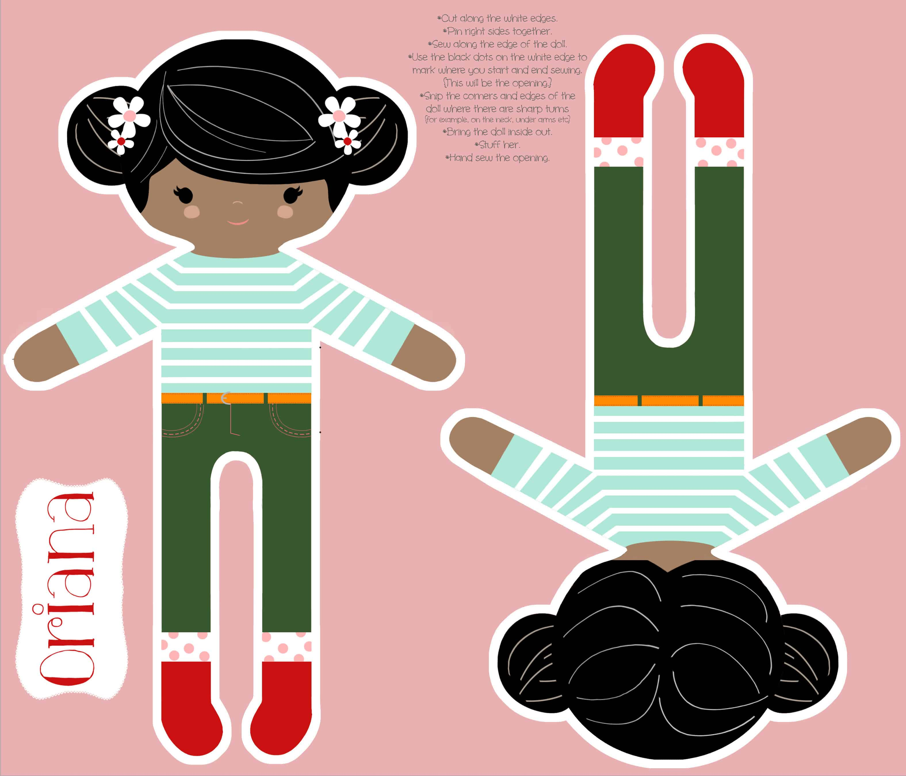 DIY: Customize Your Own Cut and Sew Doll | Spoonflower Blog