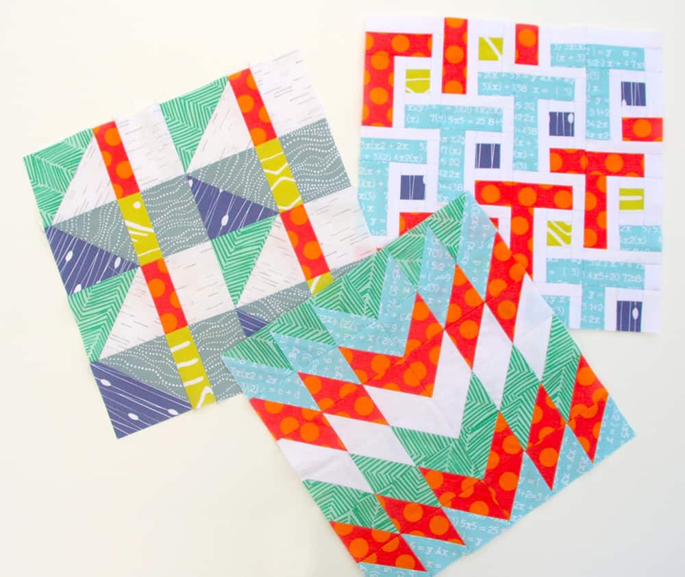 Modern quilt blocks half square triangles spoonflower blog for Modern house quilt block