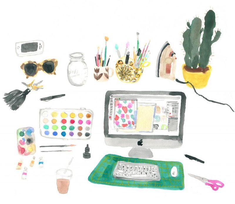 Leah's desk