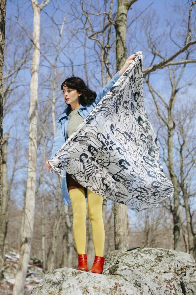 Painted ladies scarf