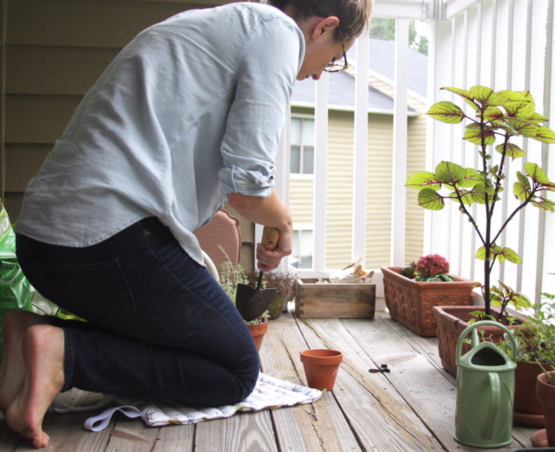 DIY Garden kneeling pad project from www.spoonflower.com